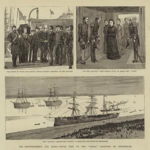 The Reinforcements for India, Royal Visit to the Jumna Troopship at Portsmouth