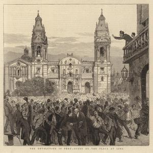 The Revolution in Peru, Scene on the Plaza at Lima