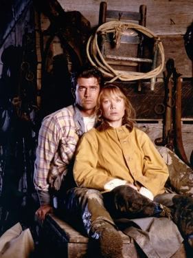 The River by Mark Rydell with Mel Gibson and Sissy Spacek, 1984 (photo)