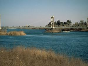 The River Euphrates at Deir Ez-Zur, Syria, Middle East by S Friberg