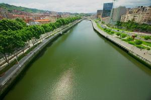 The river Ibaizabal, located on the North Coast of Spain in the Basque region.