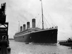 The RMS Olympic Sister Ship to the Titanic Arriving at Southampton Docks, 1925