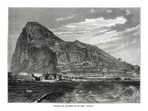 The Rock of Gibraltar, 1879 by T Taylor