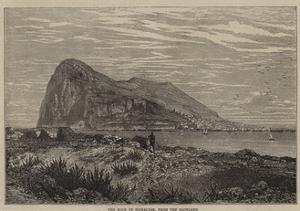 The Rock of Gibraltar, from the Mainland