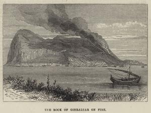 The Rock of Gibraltar on Fire