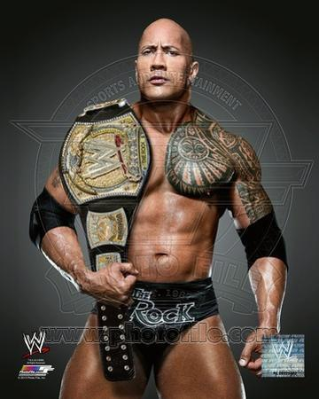 The Rock with the WWE Championship Belt 2013 Posed