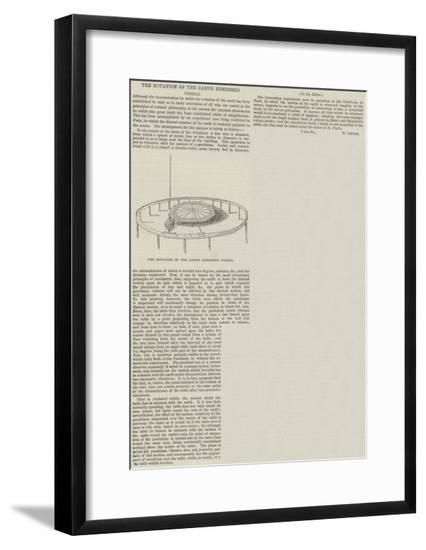 The Rotation of the Earth Rendered Visible--Framed Giclee Print
