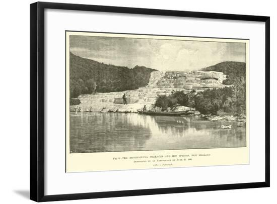 The Rotomahana Terraces and Hot Springs, New Zealand, Destroyed by an Earthquake on 10 June 1886--Framed Giclee Print