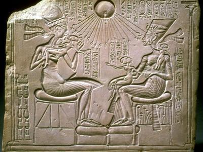 The Royal Family: Akhenaten, Nefertiti and their Children, Ca 1350 Bc