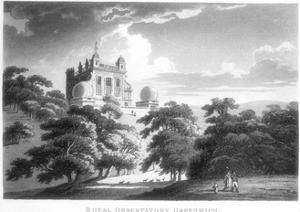 The Royal Greenwich Observatory, Flamsteed House, Greenwich Park, London, C1820
