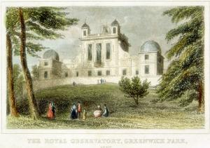 The Royal Greenwich Observatory, Flamsteed House, Greenwich Park, London, C1835