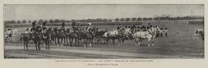 The Royal Review at Aldershot, the Queen's Carriage at the Saluting Point
