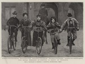 The Royal Wedding at Coburg, a Group of Cyclists