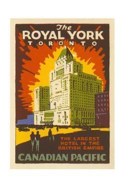 The Royal York Toronto Luggage Label
