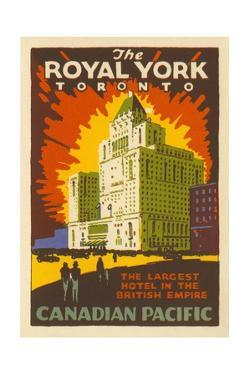 The Royal York Toronto Luggage Label