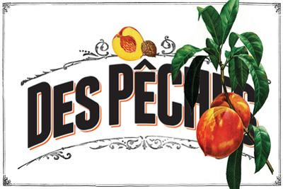 French Produce - Peach by The Saturday Evening Post