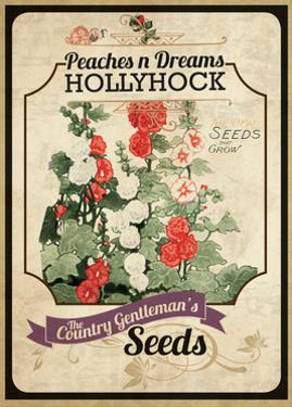 Seed Packet - Hollyhock by The Saturday Evening Post