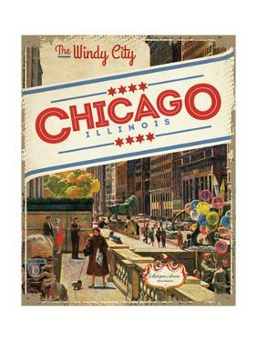 Travel Poster - Chicago by The Saturday Evening Post