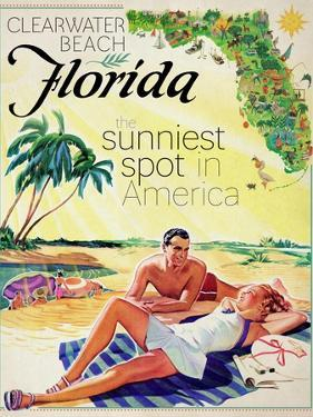 Travel Poster - Florida by The Saturday Evening Post