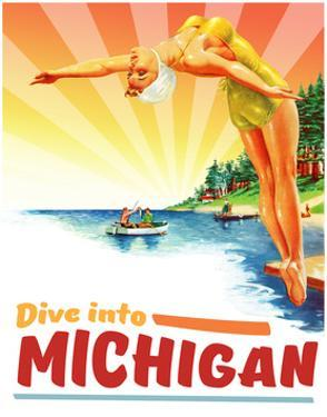 Travel Poster - Michigan by The Saturday Evening Post