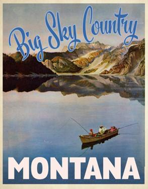 Travel Poster - Montana by The Saturday Evening Post