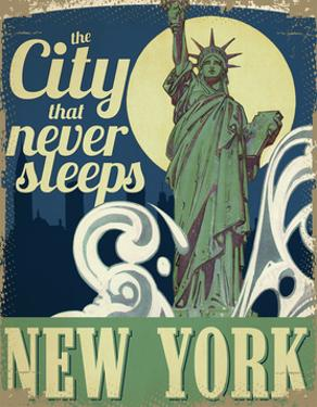 Travel Poster - New York by The Saturday Evening Post