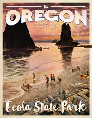 Travel Poster - Oregon by The Saturday Evening Post