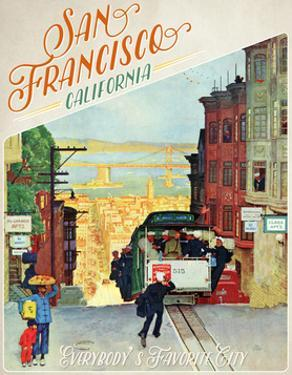 Travel Poster - SanFransisco by The Saturday Evening Post