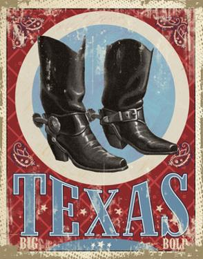 Travel Poster - Texas by The Saturday Evening Post