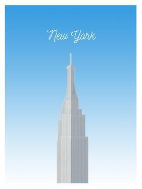Visit New York City (minimalist) by The Saturday Evening Post