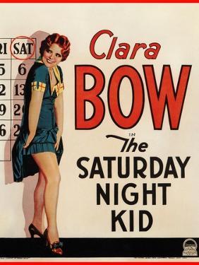 THE SATURDAY NIGHT KID, Clara Bow on US poster art, 1929