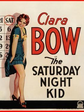 THE SATURDAY NIGHT KID, Clara Bow on US poster art, 1929