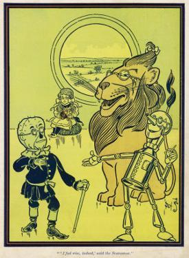The Scarecrow, the Tin Woodman and the Lion Acquire Heart, Brains and Courage
