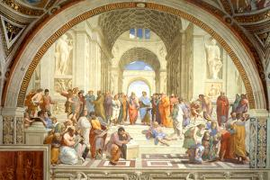 The School of Athens Scuola di Atene by Raphael