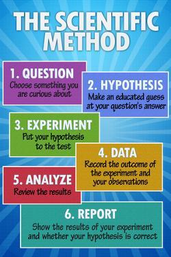 The Scientific Method Classroom Chart Plastic Sign