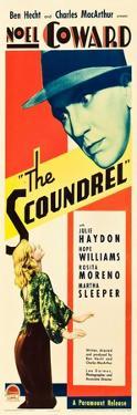 THE SCOUNDREL, top: Noel Coward, bottom: Julie Haydon on insert poster art, 1935