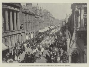 The Seaforth Highlanders Marching Through Inverness after their Recruiting Expedition