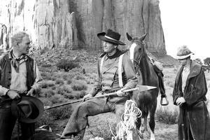 The Searchers, from Left: Harry Carey Jr., John Wayne, Hank Worden, 1956