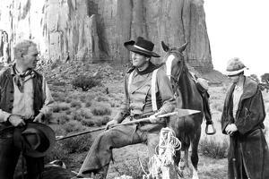 The Searchers, from Left: Harry Carey Jr., John Wayne, Hank Worden, 1956