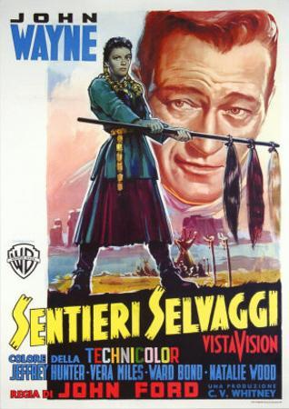 The Searchers, Italian Movie Poster, 1956