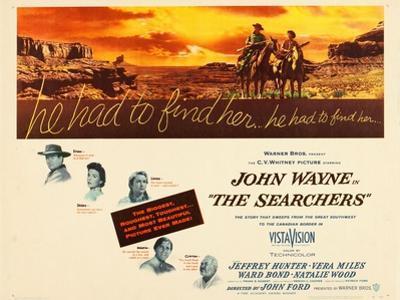 THE SEARCHERS, John Wayne, Natalie Wood, Vera Miles, Jeffrey Hunter, Ward Bond, 1956
