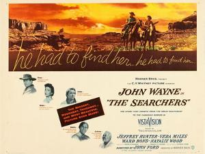 THE SEARCHERS, John Wayne, Natalie Wood, Vera Miles, Jeffrey Hunter, Ward Bond, 1956
