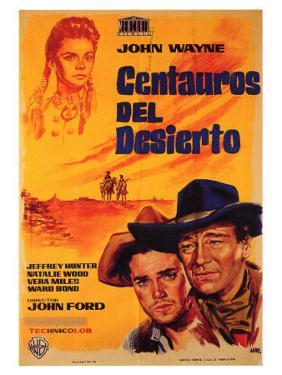 The Searchers, Spanish Movie Poster, 1956