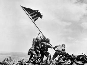 The Second Flag Raising on Iwo Jima on Feb. 23, 1945