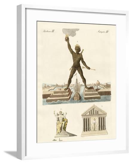 The Seven Wonders of the World--Framed Giclee Print