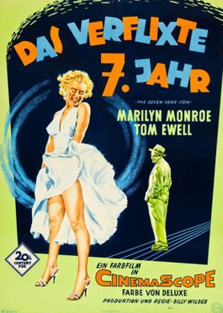 The Seven Year Itch, (aka Das Verflixte 7 Jahr), Marilyn Monroe, Tom Ewell, 1955