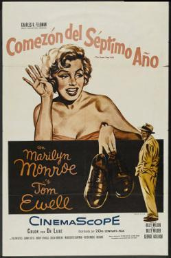 The Seven Year Itch, Argentine Movie Poster, 1955