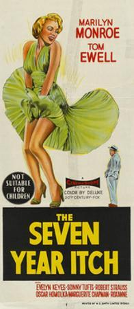 The Seven Year Itch, Australian Movie Poster, 1955
