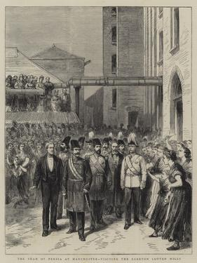 The Shah of Persia at Manchester, Visiting the Egerton Cotton Mills