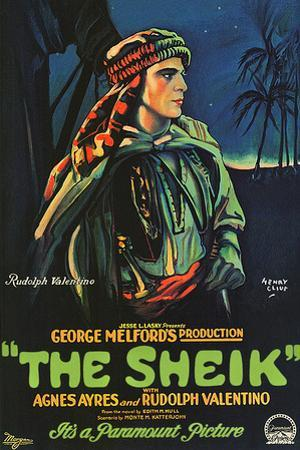 The Sheik Movie Rudolph Valentino Poster Print